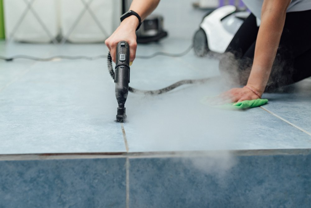 Steamatic steam cleaning tile floors in Florida